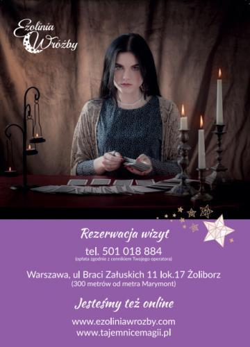 Wróżka Warszawa- spotkania osobiste w saloniku wróżb